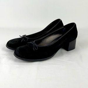 ✨3/$25✨Soda Black Ballet Faux Suede Pumps